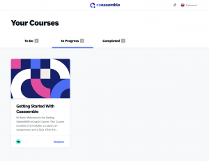 coassemble student courses